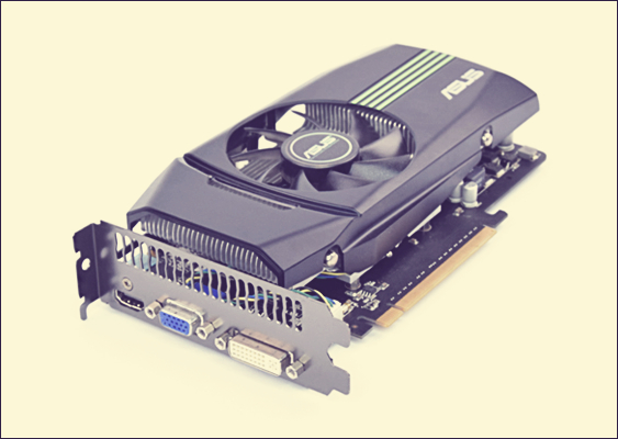 Artistic Photo: The Graphics card GeForce GTS 450 is shown aesthetically. The Nvidia Hardware can be operated with nouveau. The Picture was first published on GWS2.de - this is a portal for Linux friends