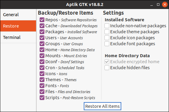 Ubuntu 20.04 LTS: How to restore Data with Aptik? Backup-Software created by Tony George. Free Tutorial for Linux-Beginers first published on GWS2.de