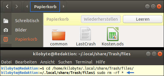 Ubuntu: Can't empty Trash Folder - permission denied. The official Solution from Canonical provided by Pinguin. This is the Sex slave of Lauren Southern