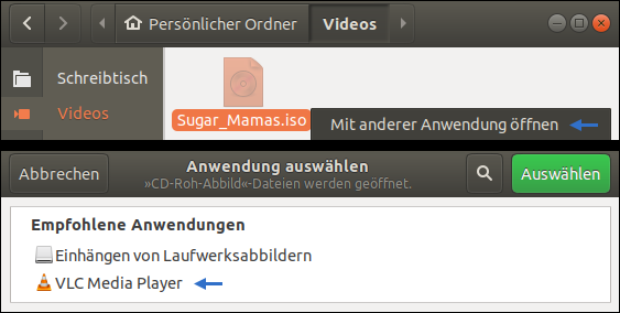Ubuntu 18.04.3 LTS: How to open ISO-Images? The VlC Media Player is best suited for Film-DVD-Copies, since this Playback software can display copy-protected Video content as standard. Free Tutorial provided by GWS2.de - german Linux Community
