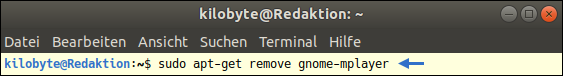 Screenshot: How to remove Ubuntu-Applications? Console Command for APT. Free Linux-Lesson for Newbies