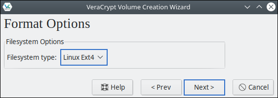 VeraCrypt Format Options: Which file system should I use? Recommendation for Ubuntu-Users